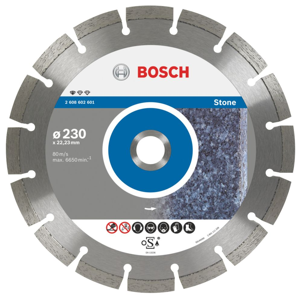 Bosch Stone & Concrete Diamond Blade 230 x 22.23mm