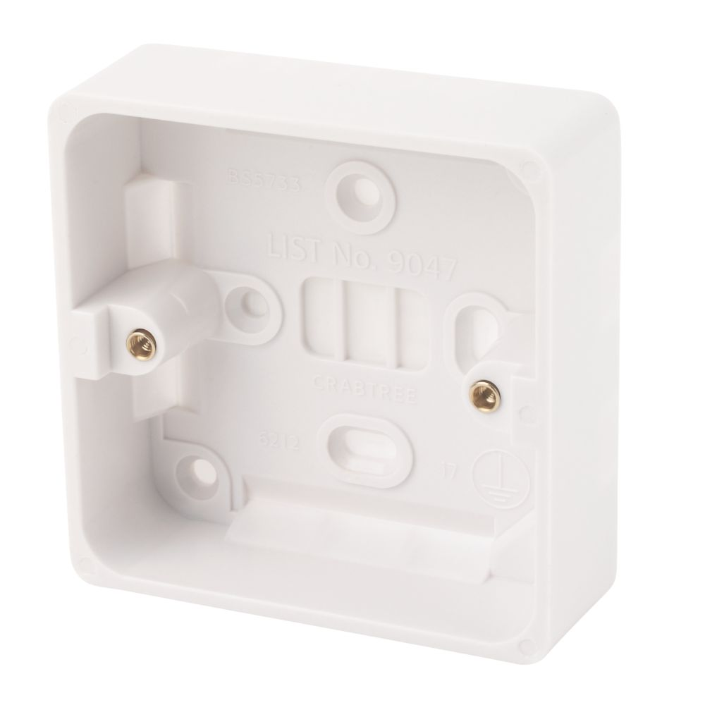 Crabtree 1-Gang 29mm Moulded Box