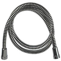 Swirl PVC Shower Hose Flexible Chrome / Black 9.5mm x 1.5m