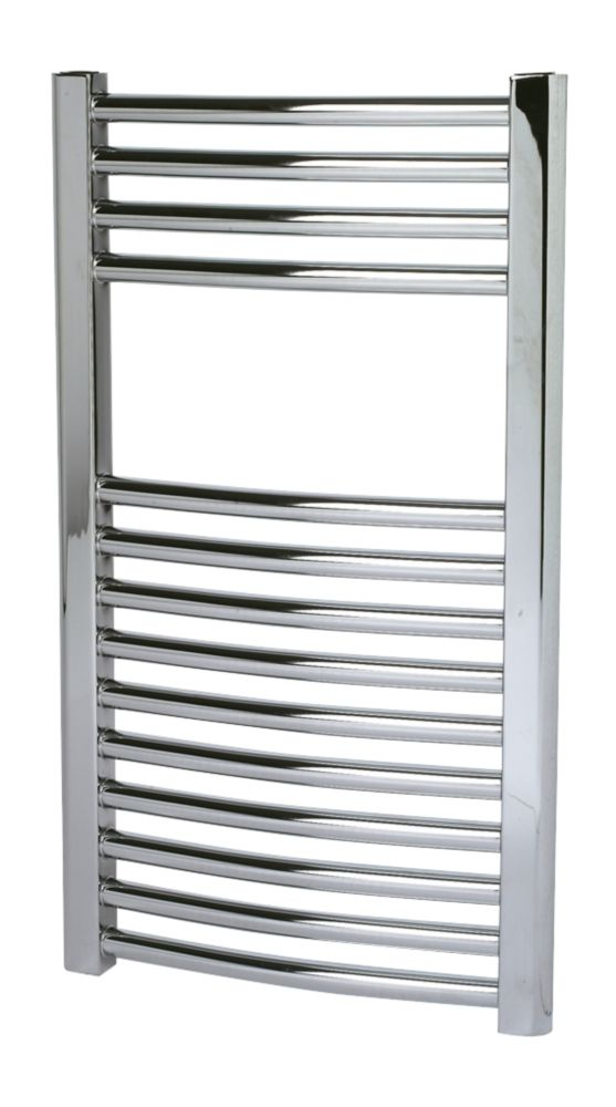 Kudox Curved Towel Radiator Chrome 700 x 400mm 182W 621Btu