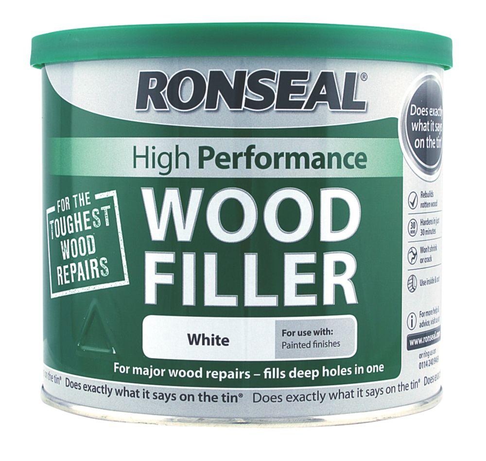 Ronseal High Performance Wood Filler White 550g