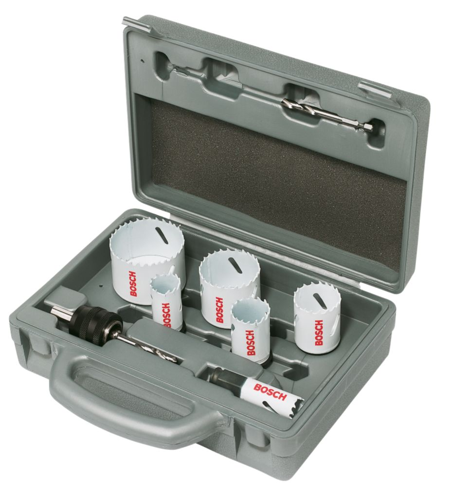 Bosch Progressor Holesaw & Hex Arbor Kit 9 Pc