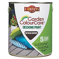 Liberon Decking Paint Mid Brown 2.5Ltr