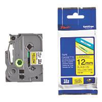 Brother TZ E631 Cassette Tape 12mm Black on Yellow