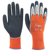 Towa XA-325 Latex-Coated Finger Gloves Orange Large