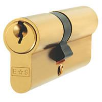 Eurospec Keyed Alike Euro Cylinder Lock 35-45 (80mm) Polished Brass