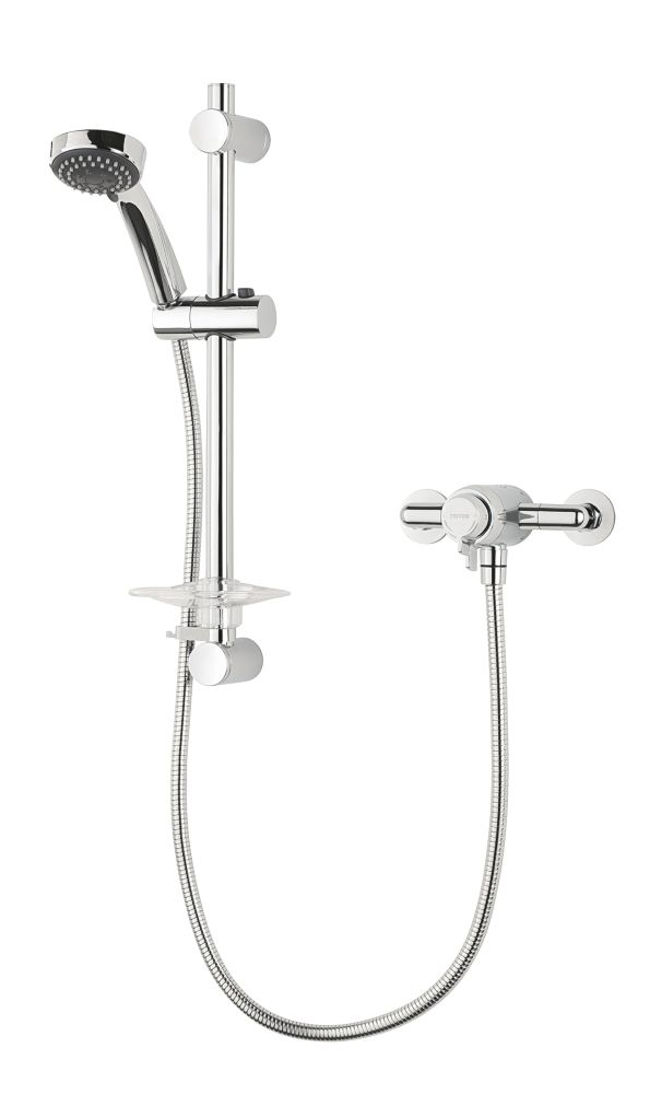 Triton Mini Petita Thermostatic Mixer Shower Flexible Exposed Chrome