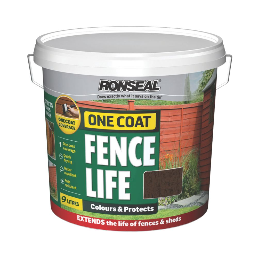 Ronseal Brushable One Coat Fencelife Dark Oak 9Ltr