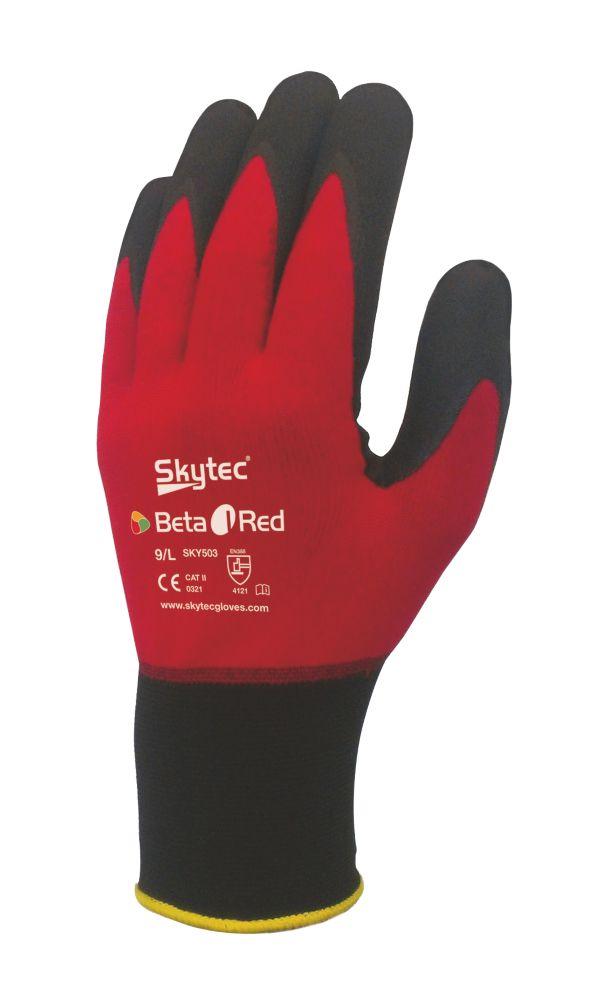 Skytec Beta 1 General Handling Gloves Red Large