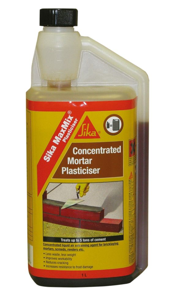 Sika MaxMix Concentrated Mortar Plasticiser 1Ltr