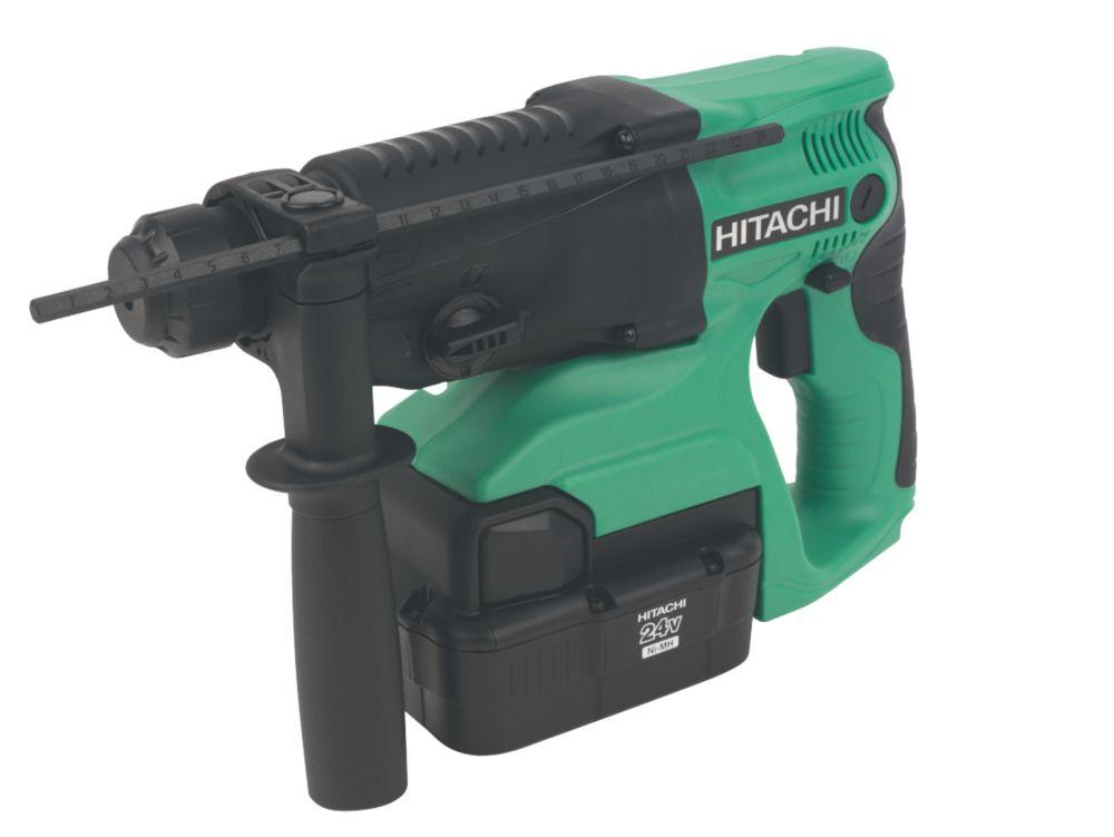 Hitachi DH24DVC/JK 4kg 2Ah Ni-MH Cordless SDS Plus Hammer Drill 24V