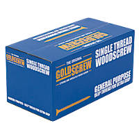 Goldscrew Woodscrews Double Self Countersunk 4 x 40mm 1000 Pack