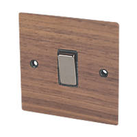 Varilight 1-Gang 20A DP Switch Solo Wood Walnut
