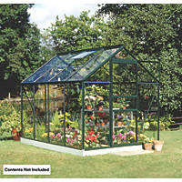 Halls Popular Greenhouse Green Toughened Glass 6' x 8'