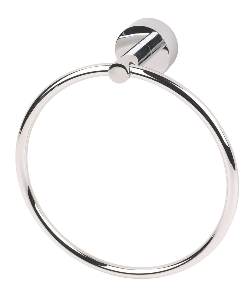 Moretti Florence Bathroom Towel Holder Ring Chrome-Plated
