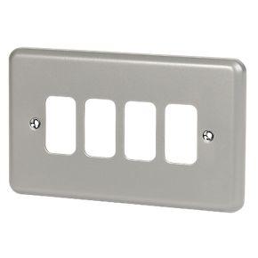 4 Module Metalclad Front Plate