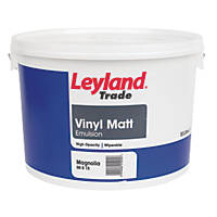 Leyland Trade Vinyl Matt Emulsion Paint Magnolia 10Ltr