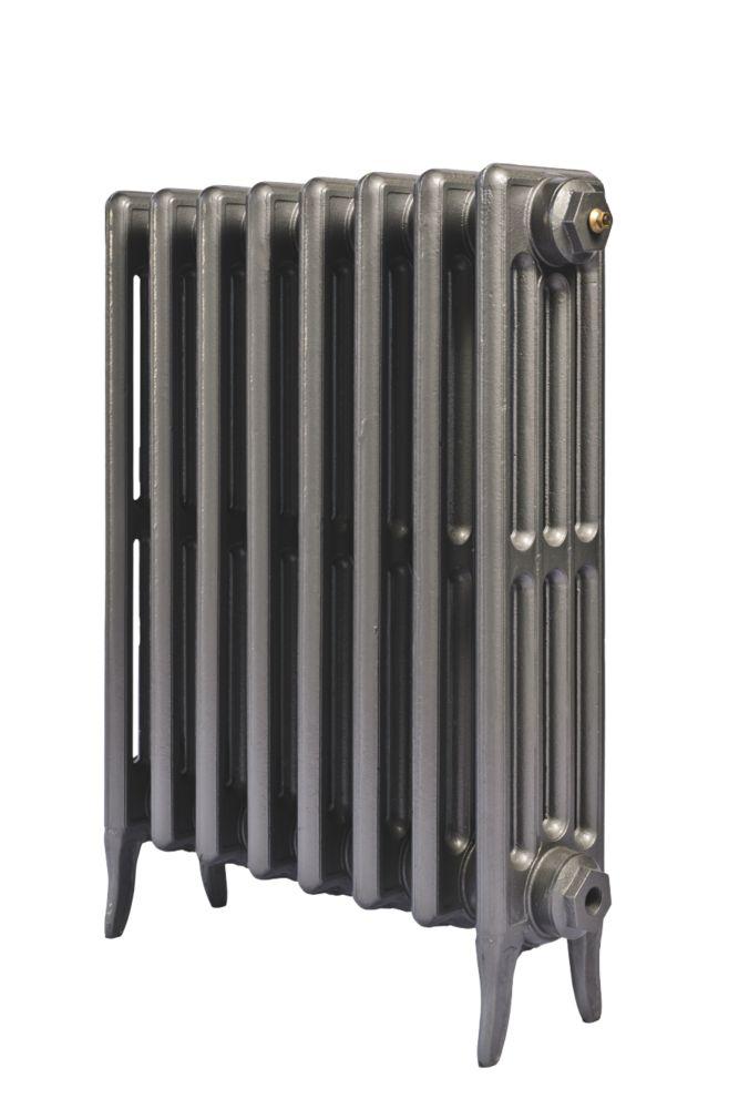 Cast Iron 660 Designer Radiator 4-Column Gun Metal Grey H: 660 x W: 645mm