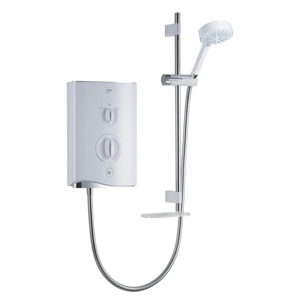 Mira Sport Manual Electric Shower White/Chrome 9.8kW
