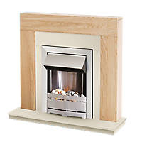 Ferndown Electric Fireplace Suite Oak Effect