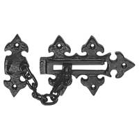 Carlisle Brass Fleur De Lys Door Chain Antique Black