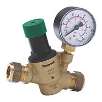 "Honeywell ¾"" Pressure Reducing Valve with Guage 22mm"