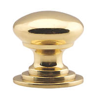 Carlisle Brass Victorian Cupboard Knob Polished Brass 50mm