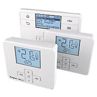 Drayton MiTime RF MT740R9K09SX 4-Channel Programmer & 2 x Wireless Thermostats