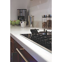 Apollo Magna Ice White Worktop with 1½ Bowl White Sink 1830 x  x 34mm