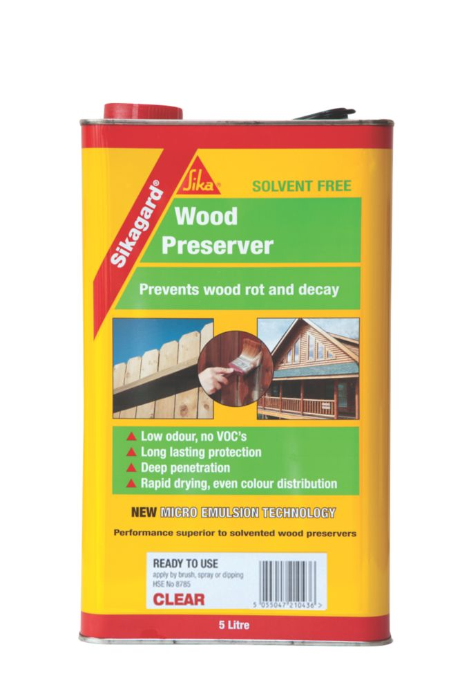 Sika Wood Preserver Clear 5Ltr