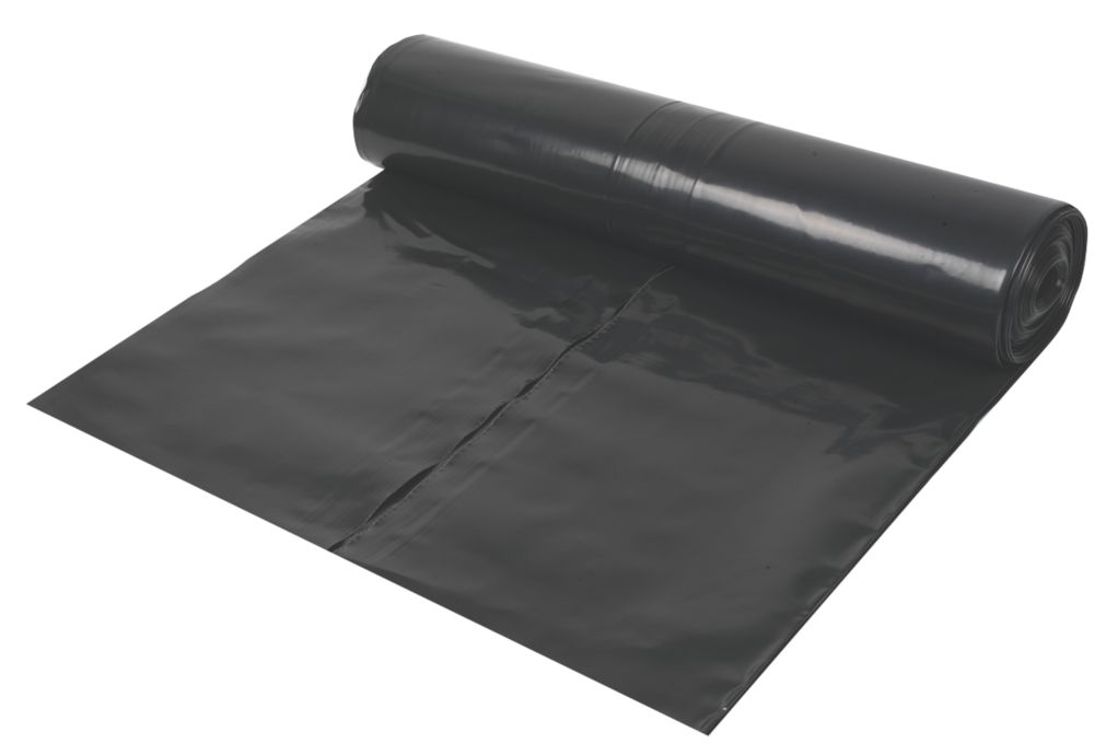 Damp-Proof Membrane 1200ga Black 4 x 25m