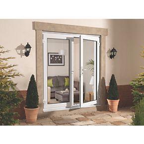 Euramax upvc french door white 1490 x 2090mm doors for Upvc french doors 1190 x 2090