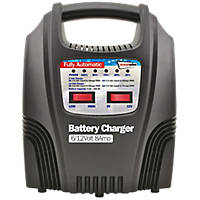 Streetwize SWBCLED8 8A LED Automatic Plastic-Cased Battery Charger 6 / 12V