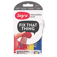 Sugru Mouldable Glue Multicolour 3 Pack