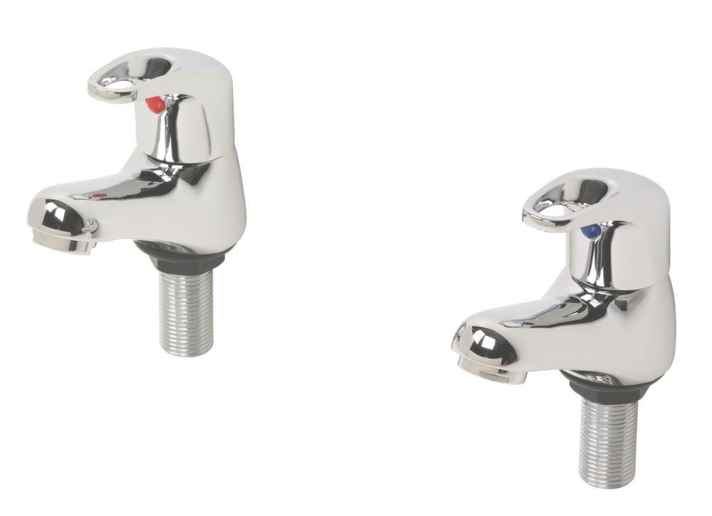 Swirl Loop Bathroom Basin Taps Pair