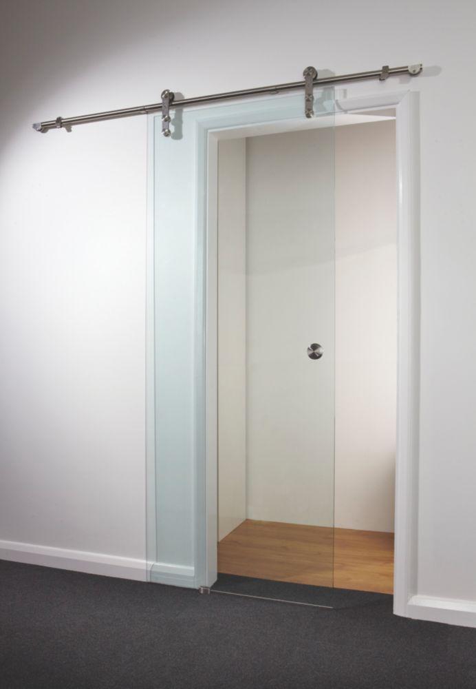 Spaceslide Sliding Door Kit Clear Glass 840 x 2080mm