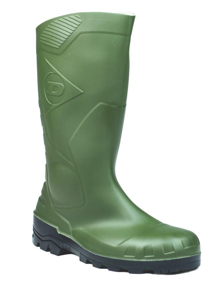 Dunlop Devon H142611 Green Wellington Size 4