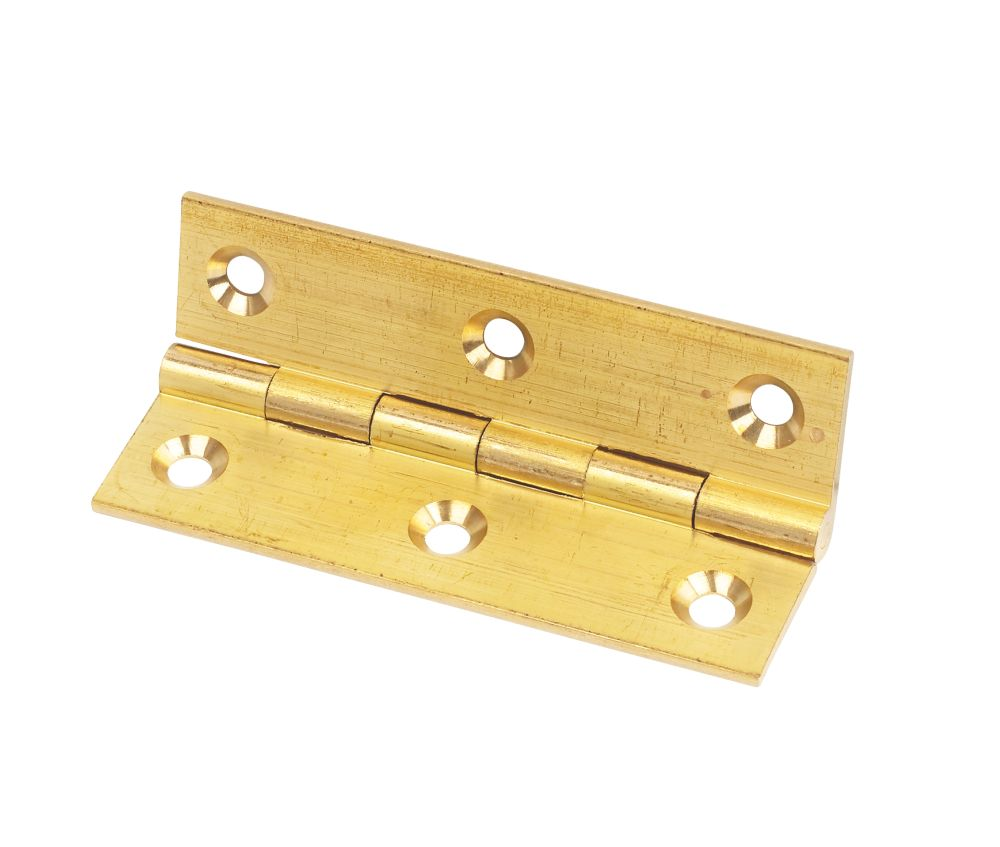 Solid Drawn Brass Hinge Self Colour 76 x 41mm Pack of 2