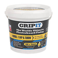 GripIt Yellow Plasterboard Fixings 15 x 20mm 100 Pack