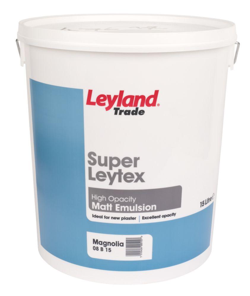 Leyland Super Leytex Matt Emulsion Paint Magnolia 15Ltr