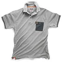 "Scruffs Worker Polo Shirt Grey Medium 42-44"" Chest"