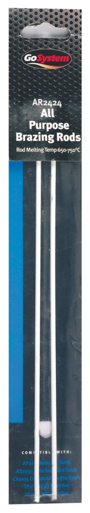 GoSystem AR2424 All Purpose Brazing Rods Pack of 2