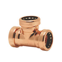 Tectite Sprint Copper Push-Fit Equal Tee 28mm