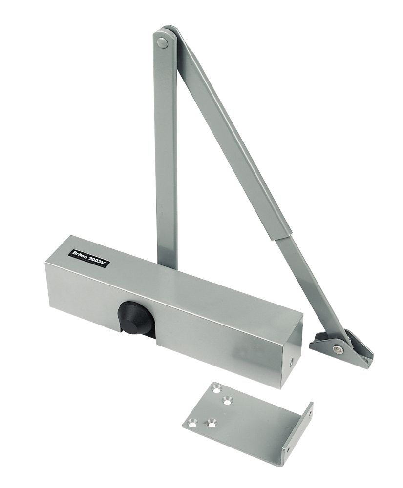 Briton 2003V Overhead Door Closer Silver