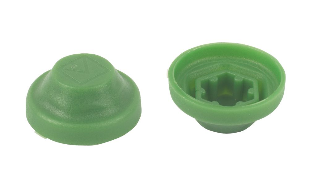 Protective Screw Caps M8 Green Pack of 100