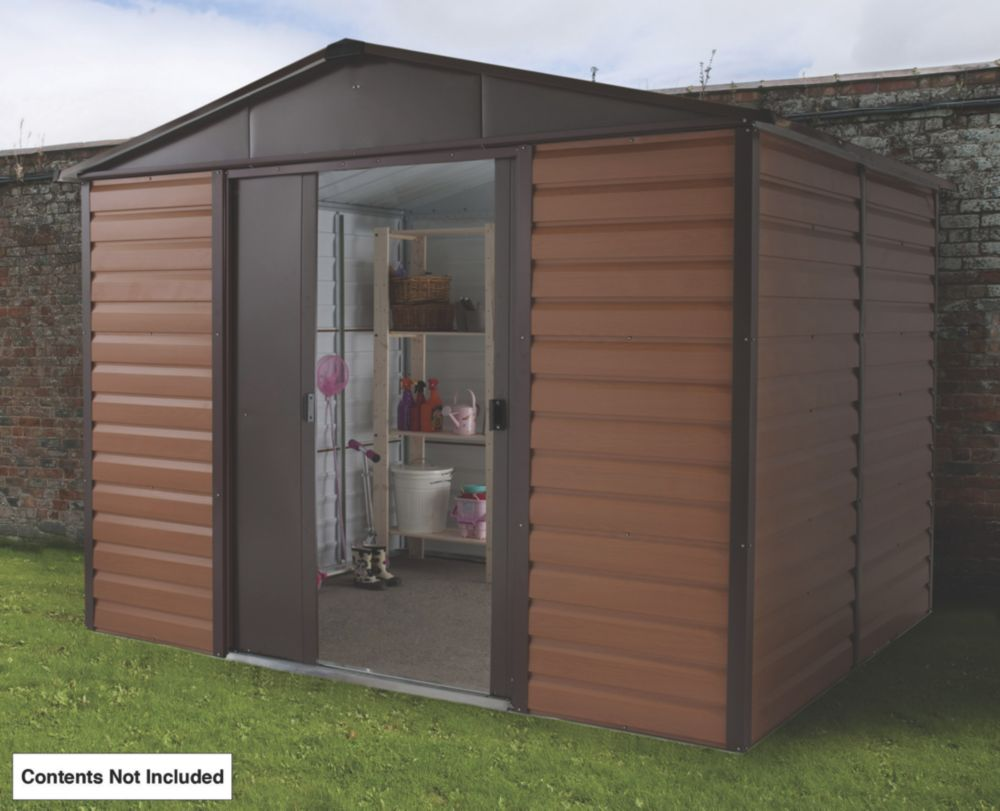 Yardmaster Sliding Door Apex Shed 10 x 8 x 8' (Nominal)