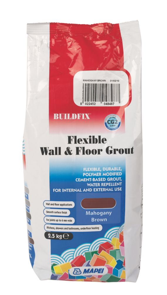Mapei BuildFix Flexible Wall & Floor Grout Mahogany Brown 2.5kg
