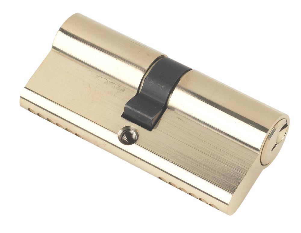 Securefast 6-Pin Euro Cylinder Lock 35-35 (70mm) Polished Brass