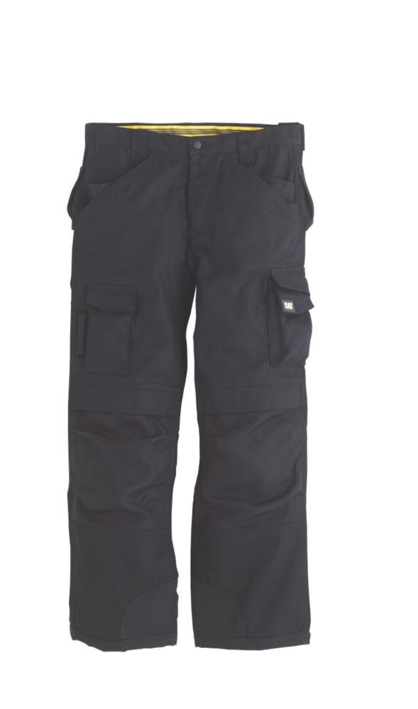 """CAT Trademark Trousers C172 Black 34""""W 34""""L"""