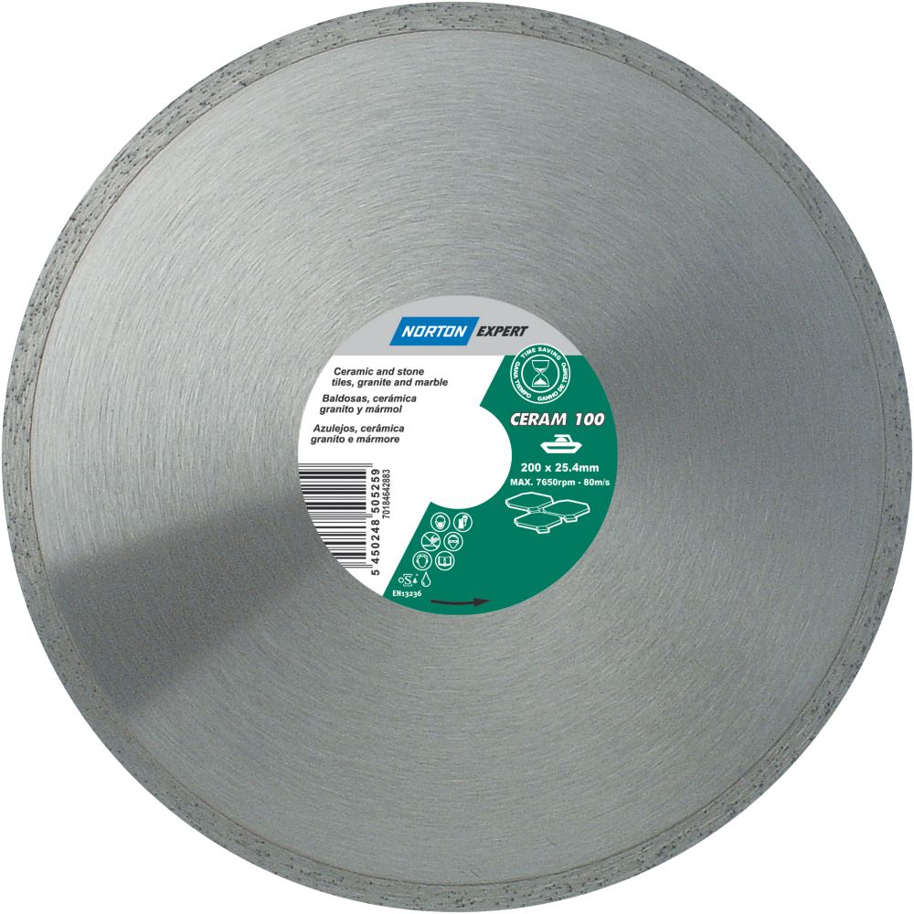 Norton Expert Classic Ceram Diamond Blade 200 x 25.4mm